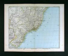 1890 Petermann Map Brazil  Rio de Janeiro South America