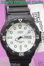 MRW-200H-7E Black White Casio Men's Watch 100M Date Day Display New Analog