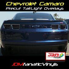 10-13 Chevy Camaro TailLight Overlays SMOKE TINT Vinyl Film PRECUT Kit RS SS 4pc