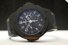 Hublot Big Bang Ceramic Chronograph Jeans Dial 44mm New !