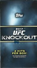 2017 Topps UFC Knockout Hobby MINI BOX 2 HITS AUTO RELIC MCGREGOR ROUSEY JONES