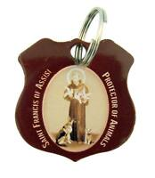 Stainless Steel Saint Francis of Assisi Protector of Animals Pet Medal, 1 1/4 In