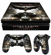 PS4 Slim Skin BATMAN ARKHAM KNIGHT DARK + Controller Decals Vinyl New LAY FLAT