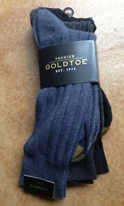 New Gold Toe Men's 3 Pack Classic Hampton Crew Socks, Shoes Size 6-12.5