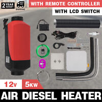 5KW 12V Air Diesel Heater Remote Controller Trucks Oil Pump Vehicles LCD Switch