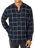 INC NEW Blue Mens Medium M Star Studded Button Down Windowpane Shirt $65 #117