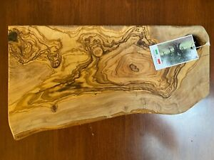 Olive Wood Cutting Board; Bread Challah Chopping Vegetables Carving Meat ITALY