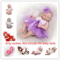 """Sweet Reborn Doll Clothing Suit 1 Set For 17-18/"""" Newborn Doll Girl Boy Clothes@@"""