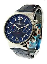 Ulysse Nardin Maxi Marine Chronograph Blue & Black Dial, ref. 353-66/323