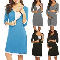 NEW MATERNITY BREASTFEEDING NURSING MAXI DRESS JILBAB SIZE M L 10 12 14 16 SALE