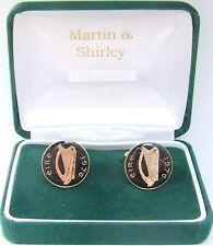 1976 Gemelli Irlandesi fatti da vecchi IRLANDA MONETE in nero e oro