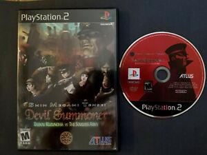 Shin Megami Tensei: Devil Summoner Raidou Kuzunoha vs The Soulless Army PS2 CIB