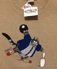 NWT XL MENS KLiBAN ALLEY CAT Bowling Ball CRAZY SHiRTS Shoes HAWAII COFFEE DYED