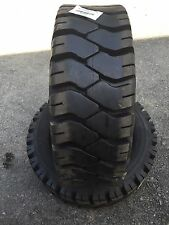2 NEW 250-15 Solideal Ecomatic 250X15 Forklift Tires with Tube & Flap - 16 Ply