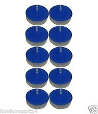 Smokeless Scented 40 Blue Tealight t-lite Float Candle Decorate Diwali Party