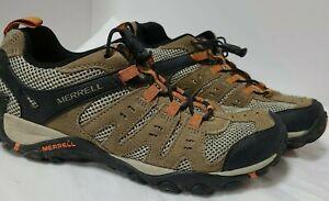 Merrell Accentor Otter/Burnt Orange Hiking Shoes J289407C Mens Size 8.5 EU42
