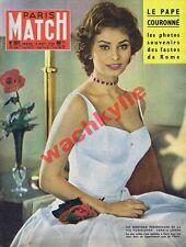 Paris Match n°501 du 15/11/1958 Sophia Loren Jean XXIII Sécession
