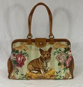 Isabella Fiore CORGI Embellished Beaded Weekend Carpet Bag