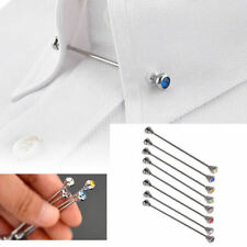 Men Shirt Pins Rhinestone Tie Clip Collar Clasp Limited Lapel Wedding Brooch Bar