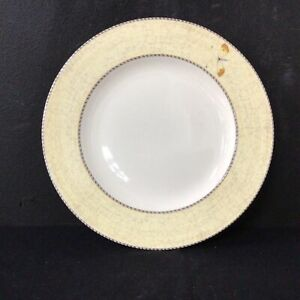 Wedgwood Sarah's Garden Yellow Queens Ware Plate. Made in England #209