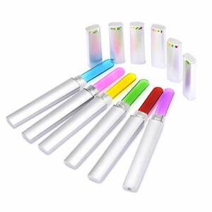 6 Pcs Double Sided Crystal Glass Nail Files Manicure Finger Pedicure File US