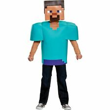DISGUISE LTD Steve Minecraft Halloween Costume for Boys, Includes Tunic and Mask