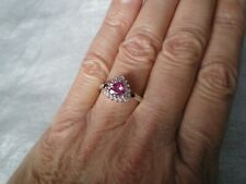Mystic Pink Topaz ring, 1.13 carats, size N/O, 3.61 grams of 925 Sterling Silver