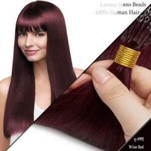 SILICONE Micro Smallest NANO EASY LOOP Ring Beads TIP Remy Human Hair Extensions