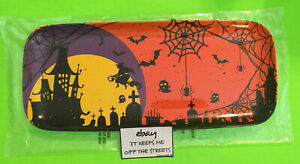 ❤️RARE VINTAGE Melamine Halloween Serving Tray WITCHES BATS SPIDERS NEW❤️