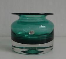 Original Ekenäs glasbruk sweden ART GLASS kunstglas Designer vase bleu blue