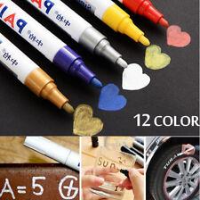 12 x Waterproof Permanent Oil-Based Car Tyre Tire Tread Rubber Paint Marker Pen