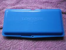 Boitier plastique Rangement bleu montre Longines Customer service.Piece montres