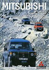 Prospekt 1985 Mitsubishi Pajero L300 Space Wagon Allrad 4 85 brochure Auto PKWs