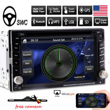 "6.2"" 2DIN Car In-Dash DVD Player Radio Stereo Bluetooth +GPS Navigation+8GB Map"