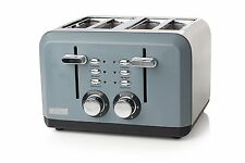 Haden 183453 Perth Slate Grey Stainless Steel 4 Slice Toaster