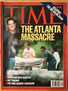 TIME MAGAZINE - 9 AUGUST 1999 - THE ATLANTA MASSACRE - MARK BARTON