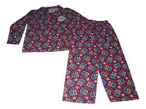 Girls Pyjamas Minions Pink Flannel 3 4 5 6 7 8 9 & 10 Years