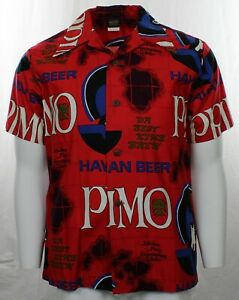 Vintage Primo Beer Red Shirt, Hawaiian Holiday