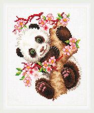 PANDA contati Punto Croce Kit 18ct Fauna Selvatica//ANIMALI Adorabili /& Bright!