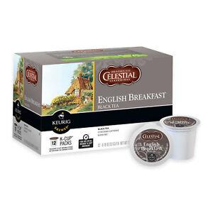 Celestial Seasonings English Breakfast Tea 12 to 168 K cups Pick Any Quantity