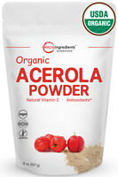 Premium Organic Acerola Cherries Powder Natural Vitamin C 8 Ounce