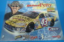 RICHARD PETTY #43 DODGE SIGNED FAN HERO CARD NASCAR 2003
