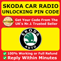 SKODA Radio Code Decode Unlock PIN CODE Octavia Superb Rapid Fabia Kodiaq Yeti ✅