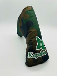 Kapalua Golf Course Hawaii Green Army Camo Magnetic Blade Putter Headcover Mint