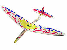 Lanyu Hand Launch Balsa Wood Glider Plane DIY Build&Paint Model Kit, US 8011