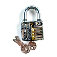 Perspective Visable Cutaway Inside View Practice Padlock for Locksmith Training