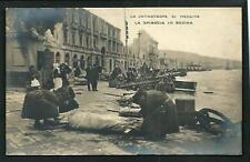 Messina : La catastrofe, la spiaggia in rovina - cartolina non viaggiata