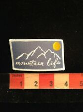 Outdoor Lover - MOUNTAIN LIFE Jacket Patch - Hike Ski Fun Scenic Beauty 69B3
