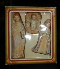 PORCELAIN NATIVITY SET 3 PIECE JOSEPH/MARY/JESUS NEW