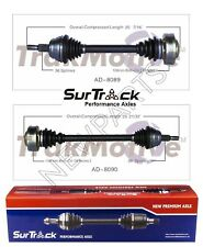 For TT Quattro 00-02 Pair Set of Front Left and Right Axle Shaft Assies SurTrack